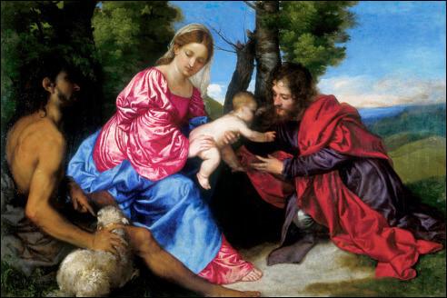 titiaan-madonna-met-kind-johannes-de-doper-en-ongeidentificeerde-heilige