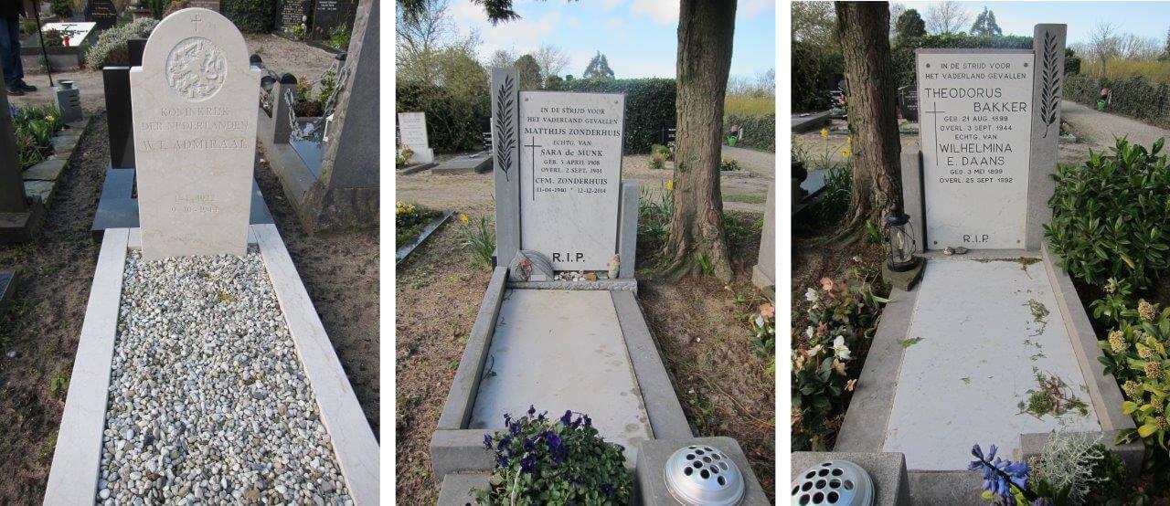 de oorlogsgraven klein